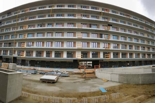 Dwuzet Fassadentechnik Wohnen am Lichtgarten der Wohnungsgenossenschaft Lichtenberg eG (WGLi)