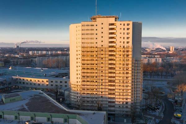 DWUZET Fassadentechnik Fassadensanierung AAlto Drohne Aufnahme